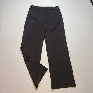 Alfani Black Pinstripe Straight Pants Size 8
